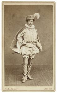 Portret van Simon Johan Hendrik van Walchren (1858-1895) als Heer van Willerval