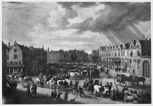 De oude ossenmarkt in Antwerpen