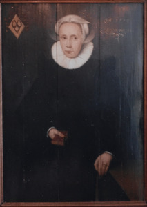 Portret van Hille Hansdr. Worst (1551-1615)