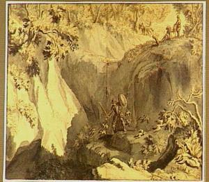 Don Quichot bij de ingang van de Montesinos-grotten