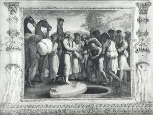 Jozef wordt door zijn broeders als slaaf aan de Midjanieten verkocht voor twintig zilverstukken (Genesis 37:28)