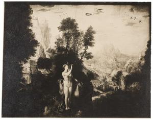 Diana met in de achtergrond een berglandschap