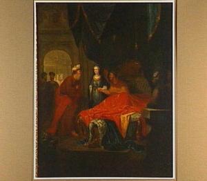 Seleukos staat zijn koninkrijk en zijn vrouw Stratonice aan zijn zoon Antiochus af