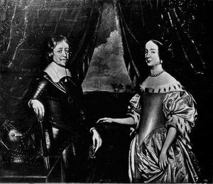 Dubbelportret van Frederik Hendrik van Oranje-Nassau (1584-1647) en Amalia van Solms (1602-1675)