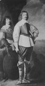 Dubbelportret van Johan Maurits van Nassau-Siegen (1604-1679) en Johan Ernst van Nassau-Siegen (1618-1639)