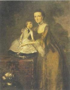 Dubbelportret van Johanna Maria Chalon (1741-1775) met haar zoon Jacob van der Dussen (1763-1820)