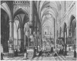 Interieur van de kathedraal te Antwerpen