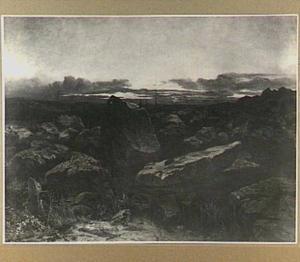 Rotsen bij Gorges d'Apremont in de Ardennen