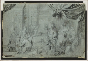 Het banket van Cleopatra en Marcus Antonio