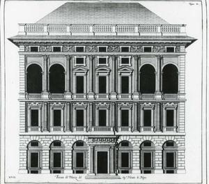 Palazzo di Negro: Plan van de gevel