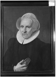 Portret van een vrouw, wellicht uit het geslacht Calkoen