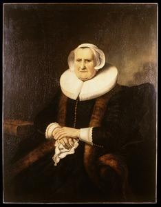 Portret van Elisabeth Bas (1571-1649)