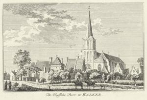 Gezicht op Kalkar met Kleefse poort en St. Nicolaikerk