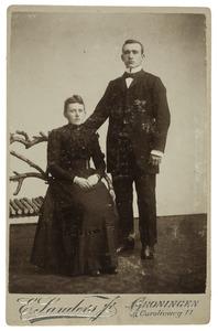 Portret van Bouke Pier Hazenberg (1881-1969) en Bregtje Boersema (1873-1941)