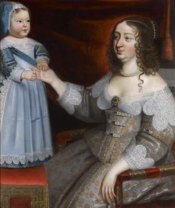 Anna van Oostenrijk met de dauphin