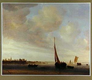 Weids riviergezicht met schepen