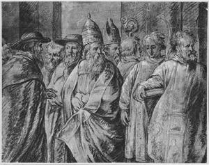 De vier Latijnse Kerkvaders en diakens