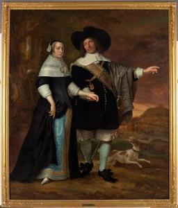 Dubbelportret van Willem van der Zaan (1621-1669), kapitein, schout-bij-nacht en opperbevelhebber en zijn echtgenote Agatha van der Eyck (1633-1703)