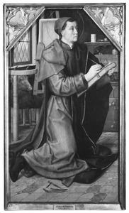 H. Lucas schildert de Madonna