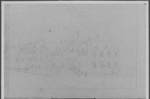 Voor- en linkerzijde van het kasteel van IJsselstein