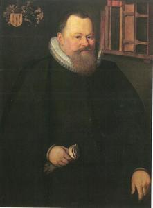 Portret van Willem Baudartius (1566-1640) predikant in Kampen vanaf 1593