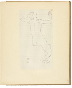 Zittend vrouwelijk naakt, rugfiguur