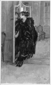 Gertie voor de spiegel bij Hirsch