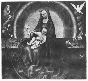 Maria met kind in glorie