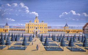 Het lusthuis Sophie Amalienborg met tuinen in Kopenhagen