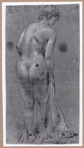 Staand vrouwelijk naakt, op de rug gezien