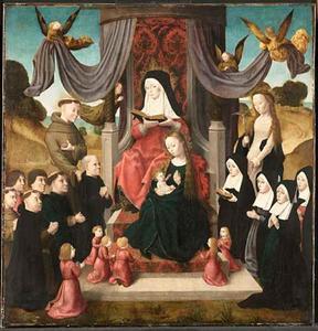 Heilige Anna te Drieën met stichters en heiligen