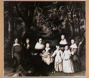 Portret van een familie, mogelijk Cornelis de Vlaming van Oudshoorn en zijn gezin