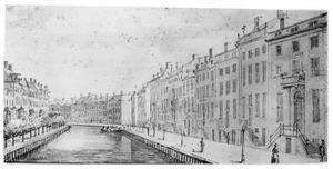 De bocht in de Herengracht bij de Spiegelstraat te Amsterdam