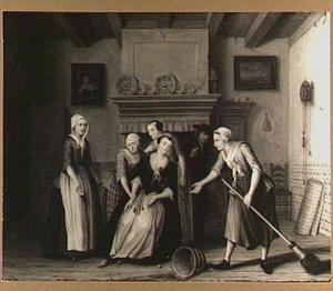 Scène uit de comedie Jan Klaasz. of gewaande dienstmaagd van Th. Asselijn: de ontdekking van het complot