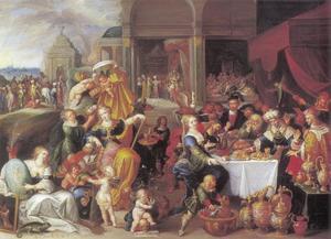 Allegorie op de IJdelheid: het festijn van koning Midas, consul Quintus Fabius Maximus stijgt af voor zijn zoon,; Croesus toont Solon zijn schatten en het Feest van Cleopatra