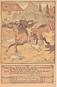'Well done' uit het gedicht John Gilpin, door William Cowper