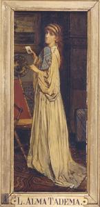 De vrouw van de kunstenaar