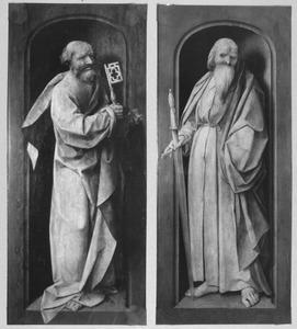 De HH. Petrus (links) en Paulus (rechts)