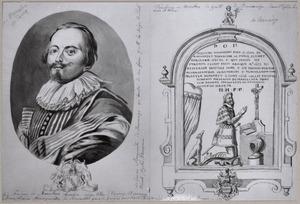 Portret en memorietafel van Frederick van Marselaer (1583-1670)