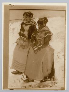 Twee meiden in de sneeuw