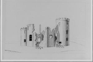 Linkerzijde van de ruïne van het kasteel van Abcoude