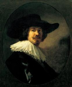 Portret van een man met een breedgerande hoed