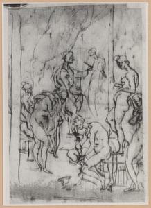 Zeuxis schildert Helena van Troje, en een bovenbeen