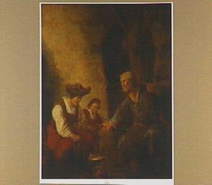 Elia bij de weduwe van Sarefat, die hem eten bereid  (1 Koningen 17: 13-16)