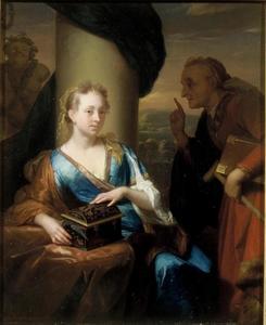 Een jong meisje met de doos van Pandora of Lesbia