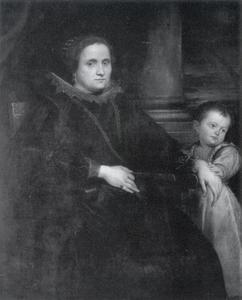 Portret van een vrouw uit Genua met een kind