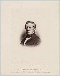 Portret van Jeronimo de Vries (1808-1880)
