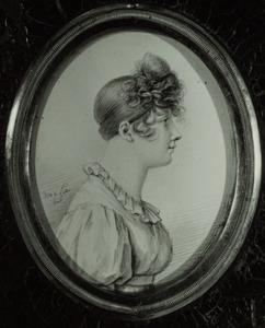 Portret van een vrouw, waarschijnlijk van Julie von der Goltz (1780-1841) of Gertrude Charlotte Auguste Helene von Estorff (1774-1857)