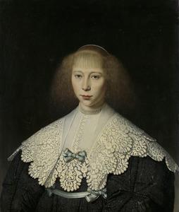 Portret van Agatha Geelvinck (1617-1638)
