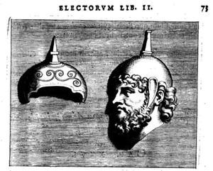 Hoofd van een Romeinse priester en een apex